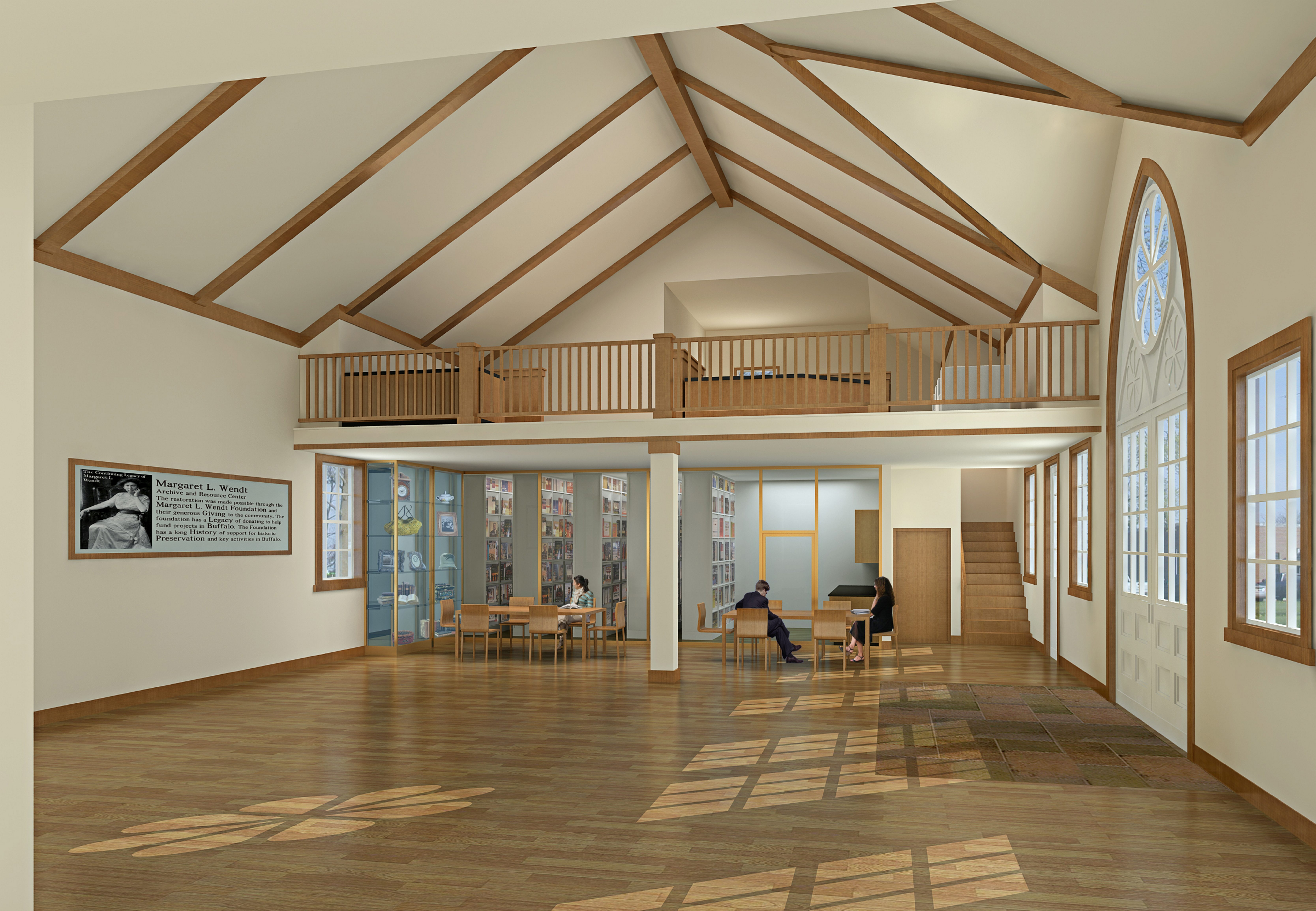 A rendering of the interior of the new Margaret L. Wendt Archive and Resource Center at Forest Lawn. Construction began Monday.