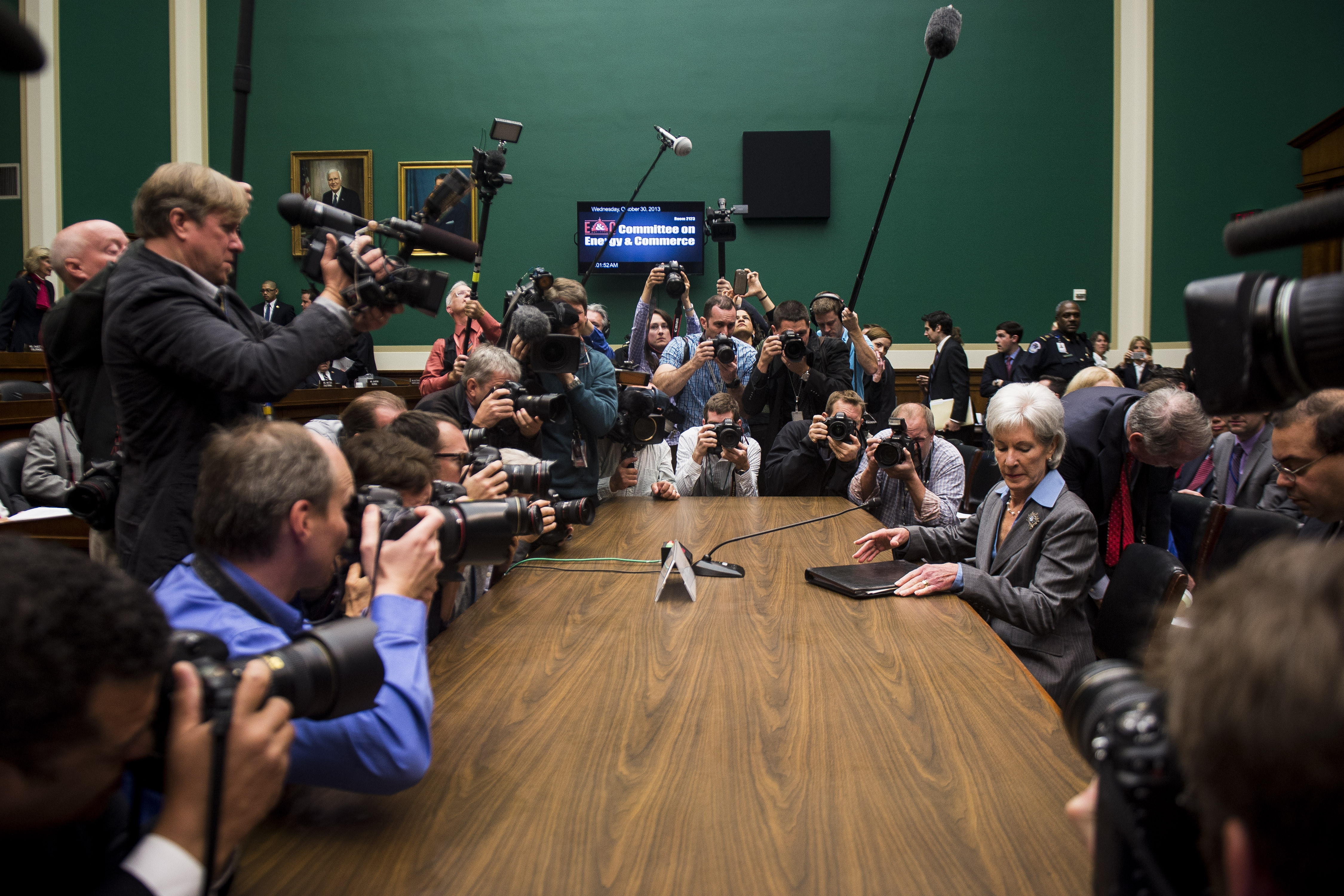 Health and Human Services Secretary Kathleen Sebelius apologized Wednesday for the frustration that millions of Americans have experienced while trying to shop for insurance on the HealthCare.gov website.