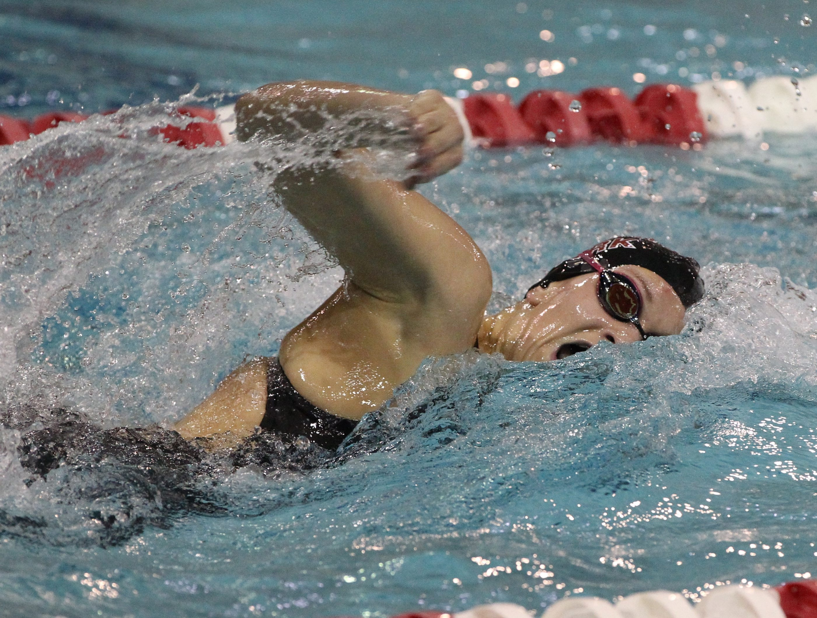 Andrea Ernst of Orchard Park was a double winner, taking sectional titles in the 200 free and 100 butterfly.