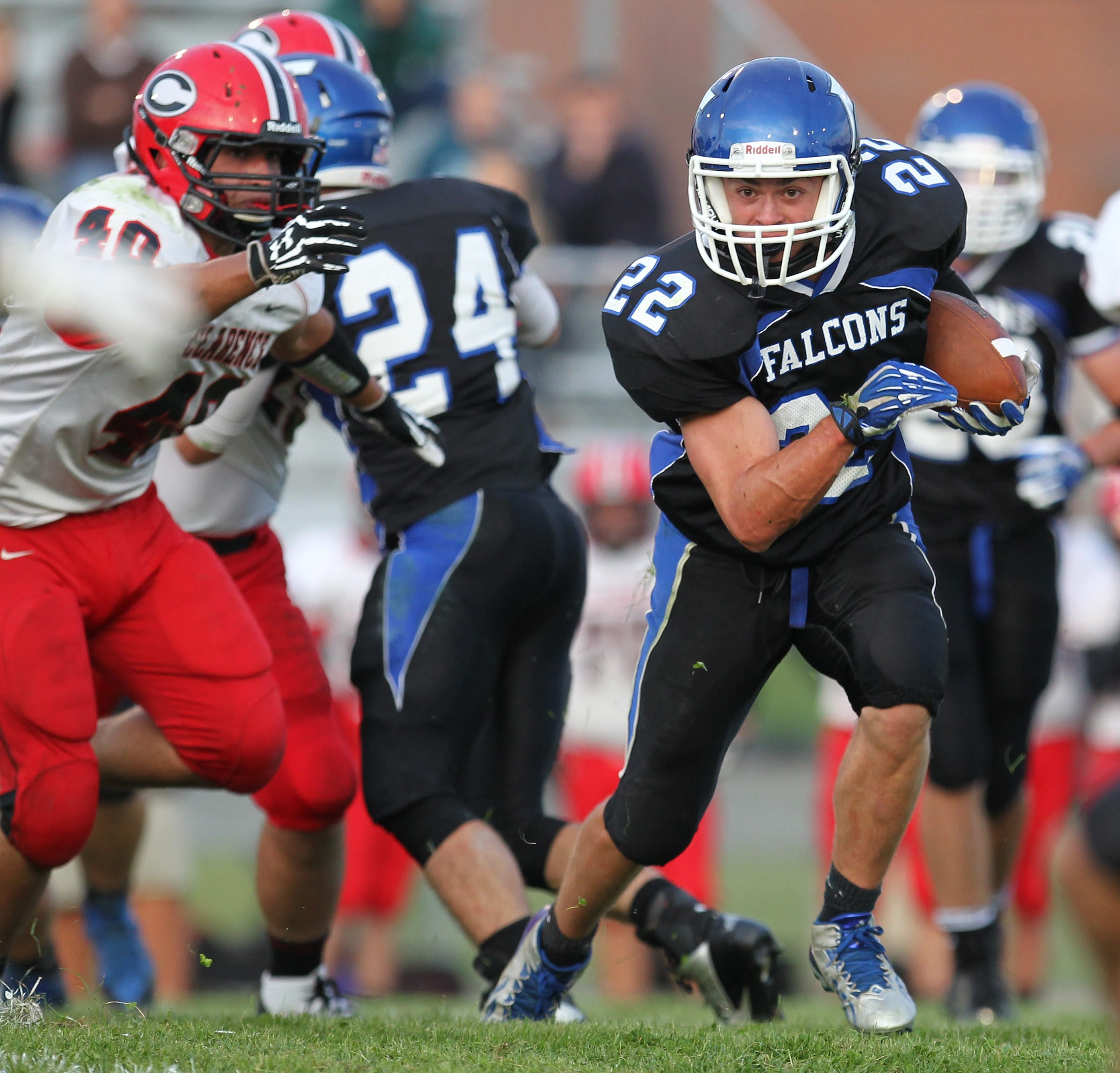 Frontier's Cameron Coon has 11 rushing touchdowns this season.