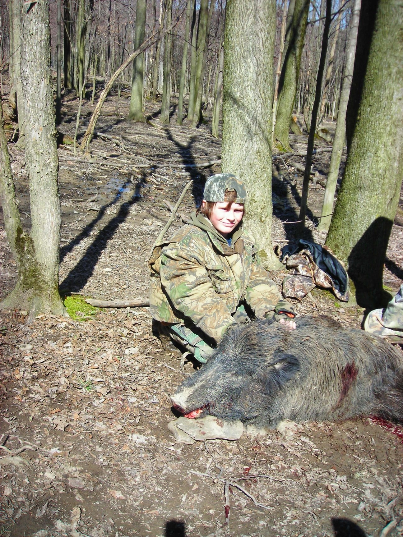 Brad Nichols of Warsaw bagged this boar at Creekside Outdoors in 2008, but New York State boar hunts will end in 2015.