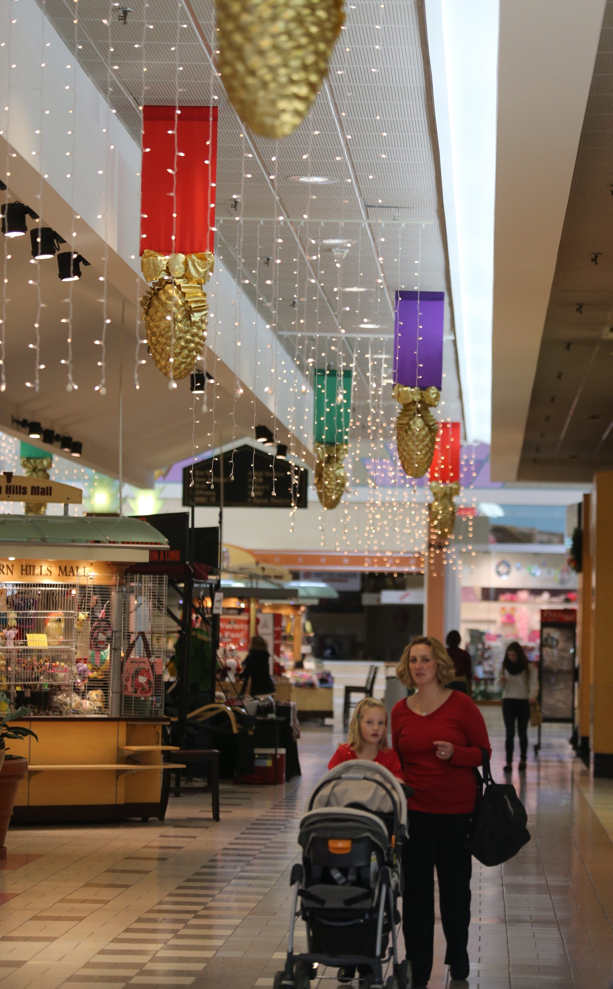 Holiday decorations are up and the retailers are ready for the seasonal shoppers at the Eastern Hills Mall in Clarence.