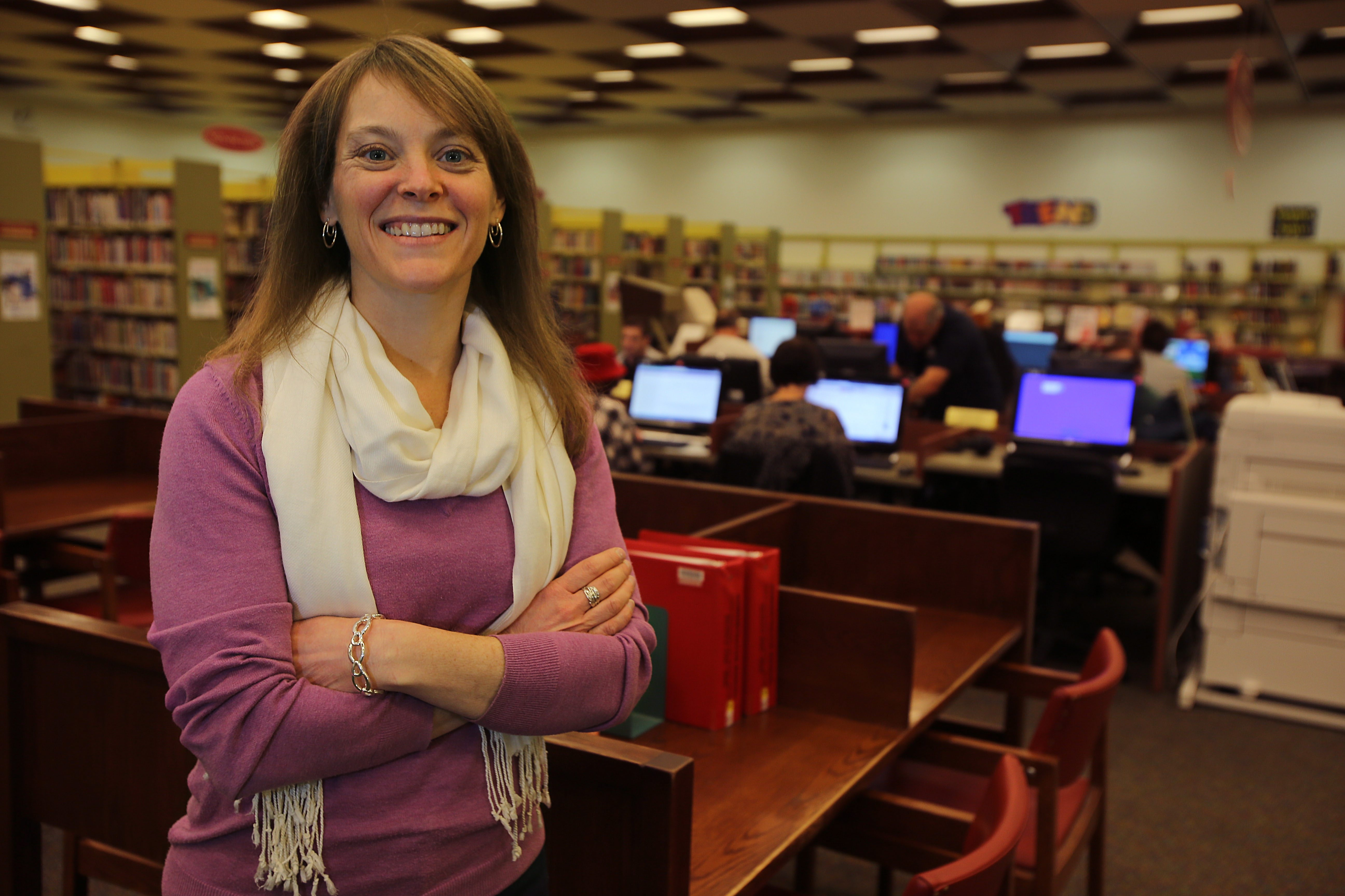 Britt White took over as librarian of North Tonawanda Library in mid-August. Friends of the North Tonawanda Library will welcome her at a reception Monday evening.