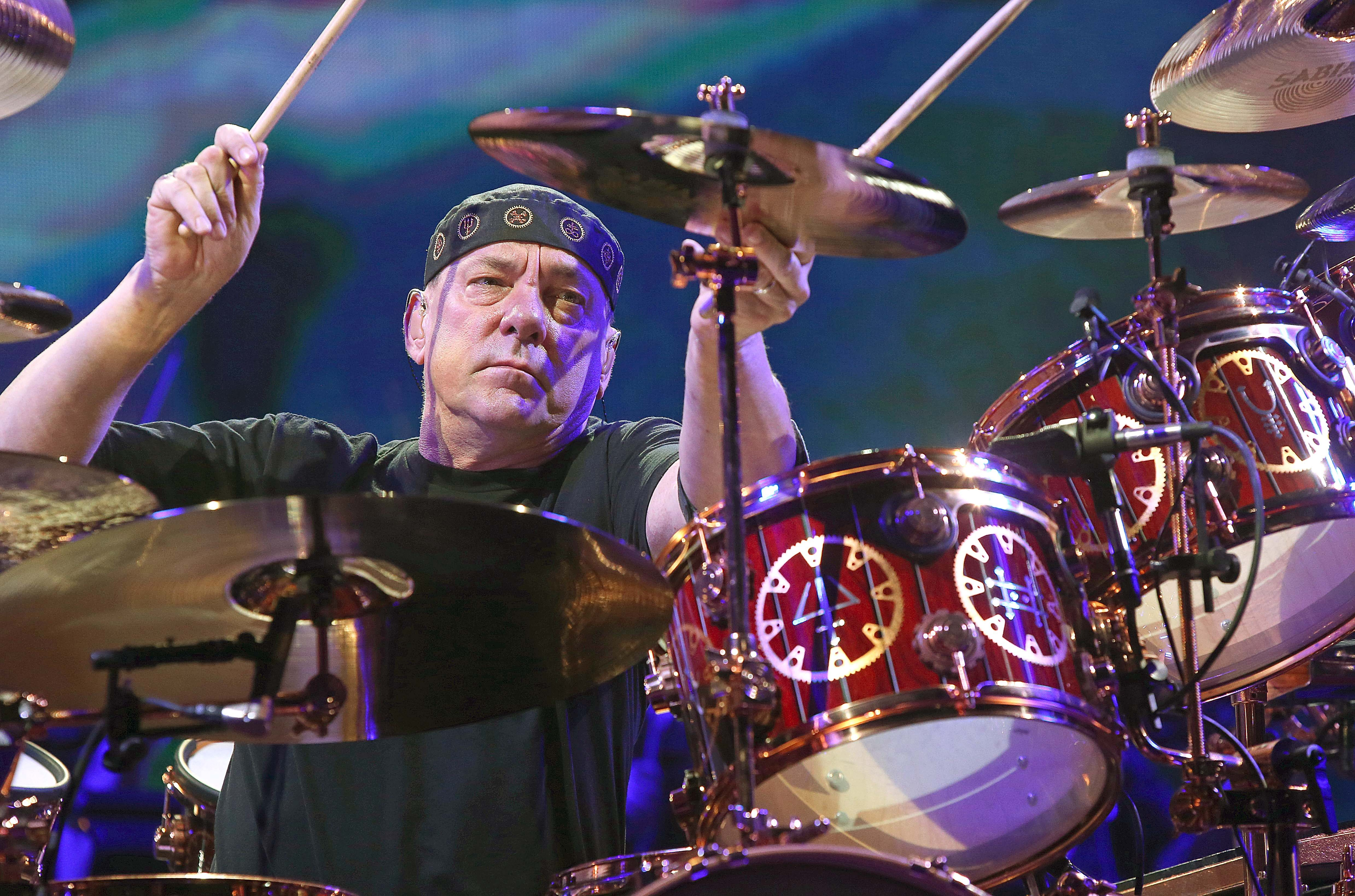 Drummer Neil Peart performs with Rush at First Niagara Center in October 2012.