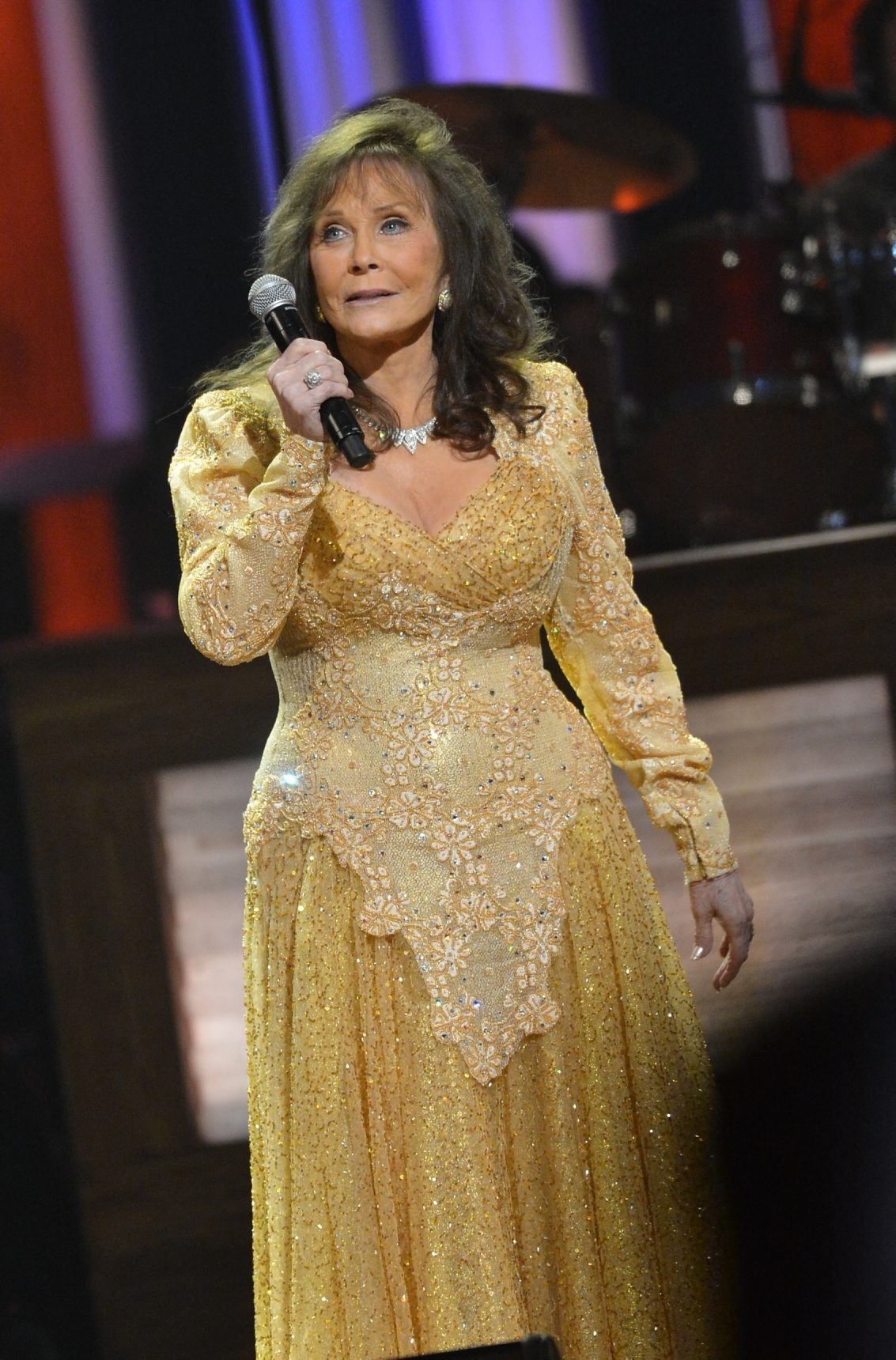 NASHVILLE, TN – SEPTEMBER 25:  Loretta Lynn performs during the celebration of Loretta Lynn's 50th Opry Anniversary at The Grand Ole Opry on September 25, 2012 in Nashville, Tennessee.  (Photo by Rick Diamond/Getty Images)