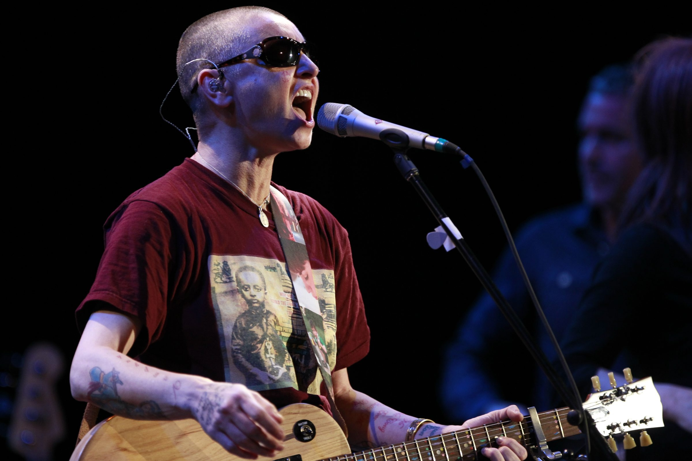 Sinead O'Connor performs at the Riviera Theatre Tuesday. (Harry Scull Jr./Buffalo News)