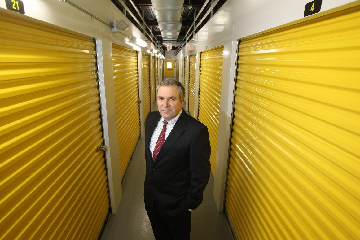 Sovran CEO David Rogers stopped by the Uncle Bob's Self Storage facility in Williamsville recently. Occupancy rates topped 90 percent for the second straight quarter.