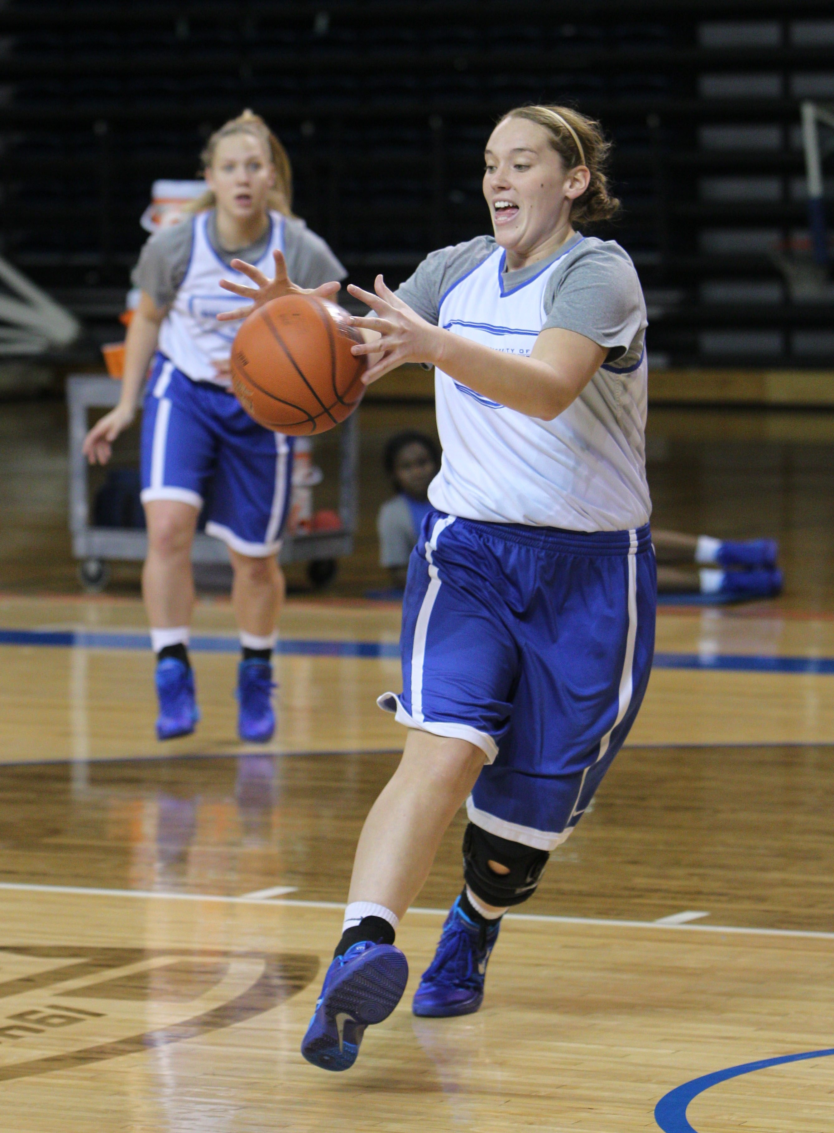Junior Kristen Sharkey is one of the keys to Buffalo's aggressiveness in the low post.
