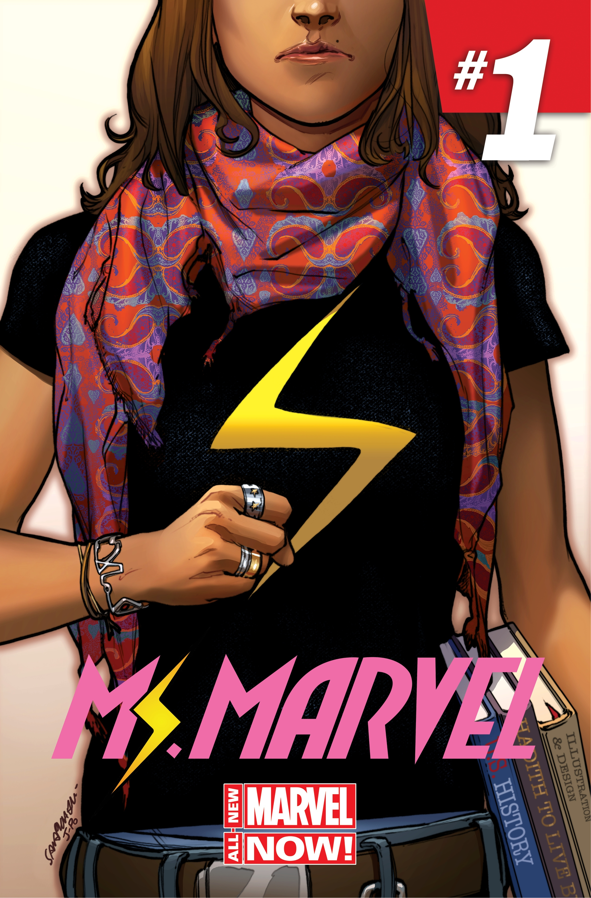"This image released by Marvel Comics shows the character Kamala Khan on the cover of the  ""Ms. Marvel"" issue."