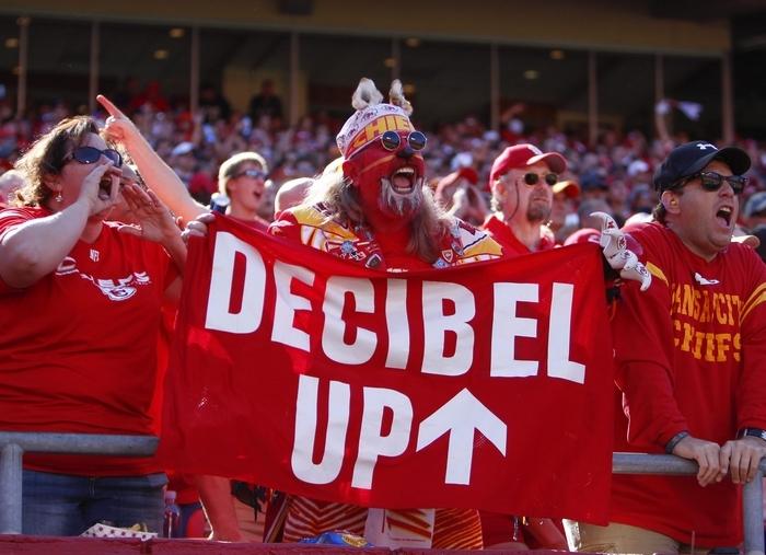 Kansas City fans broke the decibel record in last week's win over Oakland, breaking a mark set by Seattle earlier in the season. (Getty Images)