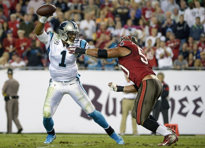 Cam Newton and the Panthers need a win against Atlanta to bolster their playoff hopes. (Associated Press)