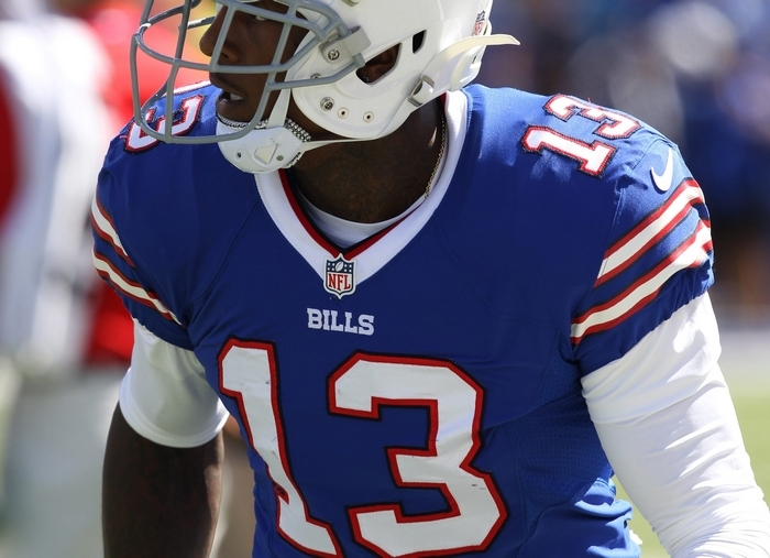 "Stevie Johnson's solution for the Bills'red-zone woes:  ""Just look for 13."" (James P. McCoy/Buffalo News)"