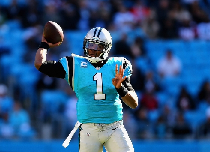 Cam Newton has led the Panthers to a five-game winning streak. The 49ers are up next for them. (Getty Images)
