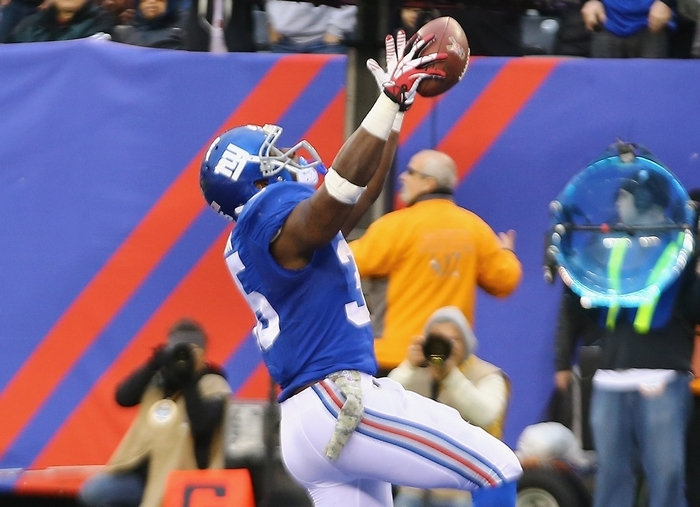 Andre Brown of the Giants rushed 30 times for 115 yards and a touchdown against Oakland last week. (Getty Images)