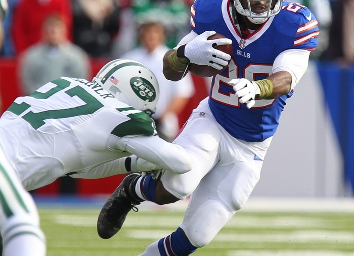 The Jets stacked the box against  C.J. Spiller and the Bills. (Mark Mulville/Buffalo News)