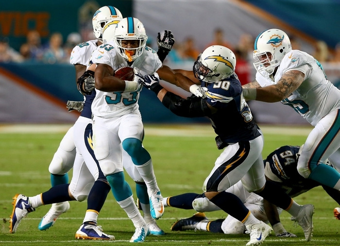 It's worth monitoring how the Dolphins will utilize running back Daniel Thomas in the time leading up to the fantasy postseason. (Getty Images)