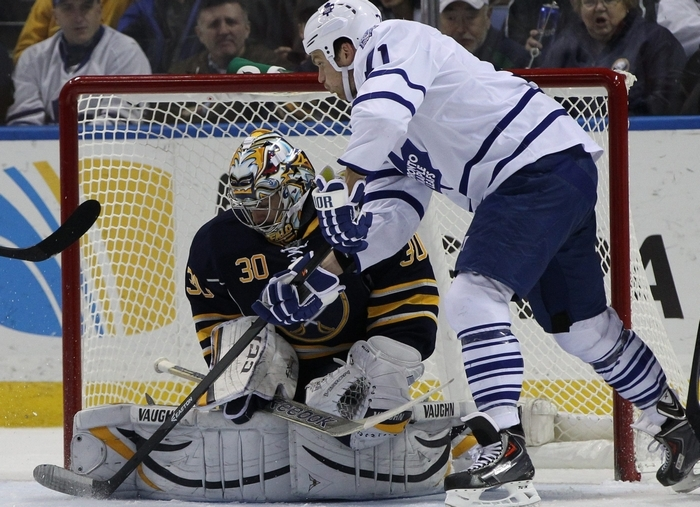 Ted Nolan plans to use Ryan Miller often but the Sabres goalie says there will be times he needs a break due to the schedule. (James P. McCoy/Buffalo News)