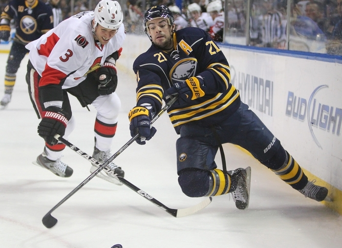 Drew Stafford tops Mike Harrington's list of Sabres who have been struggling offensively the most. (Mark Mulville/Buffalo News)