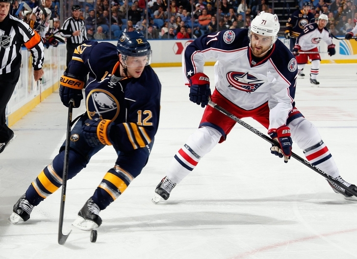 Kevin Porter is back with the Sabres after being sent down to Rochester Oct. 25. (Getty Images)