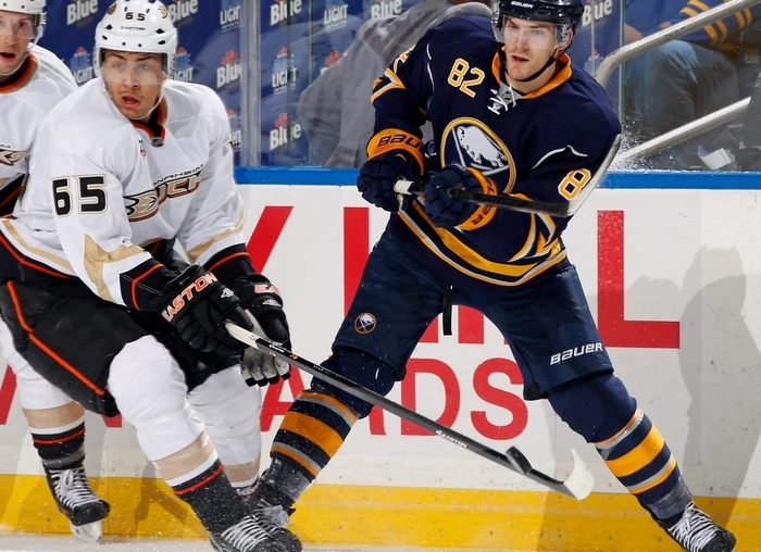 Marcus Foligno has a two-game goal streak, the first of his career. (Getty Images)