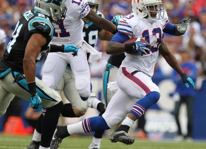 Stevie Johnson made several big plays on the final drive. (Mark Mulville/Buffalo news)