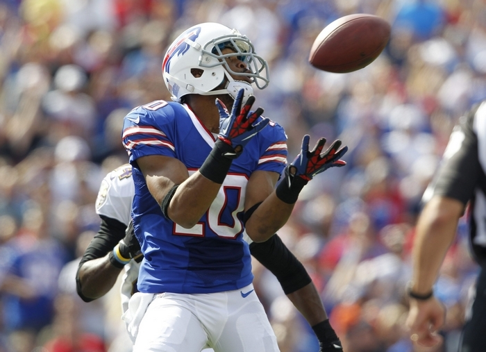 Blocking by Fred Jackson gave Buffalo Bills wide receiver Robert Woods time to catch this 42-yard TD pass in the second quarter. (Harry Scull Jr./Buffalo News)