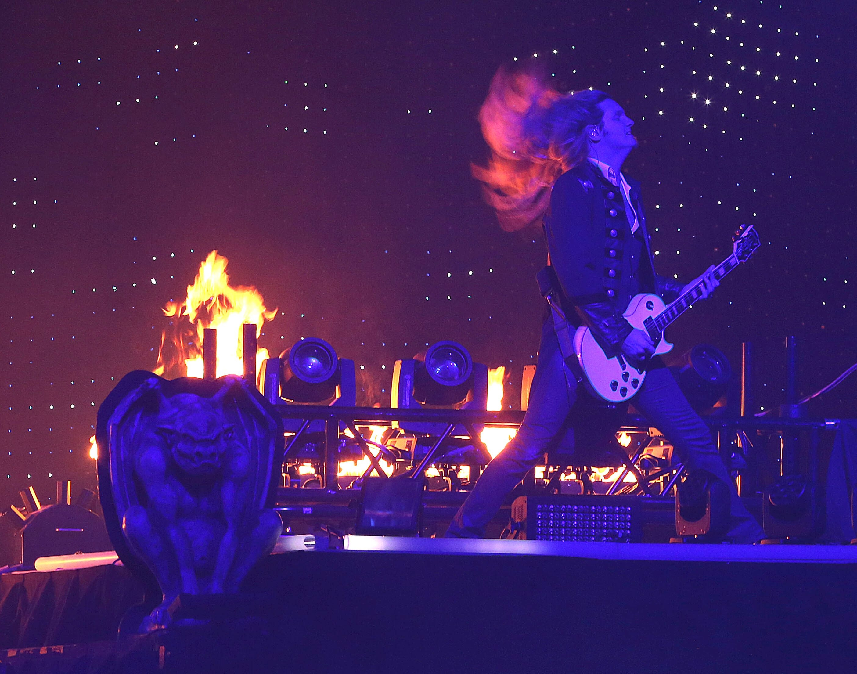 Joel Hoekstra and the Trans-Siberian Orchestra perform the first of two concerts Monday at First Niagara Center. Before the show, the group gave $9,000  to Women & Children's Hospital.