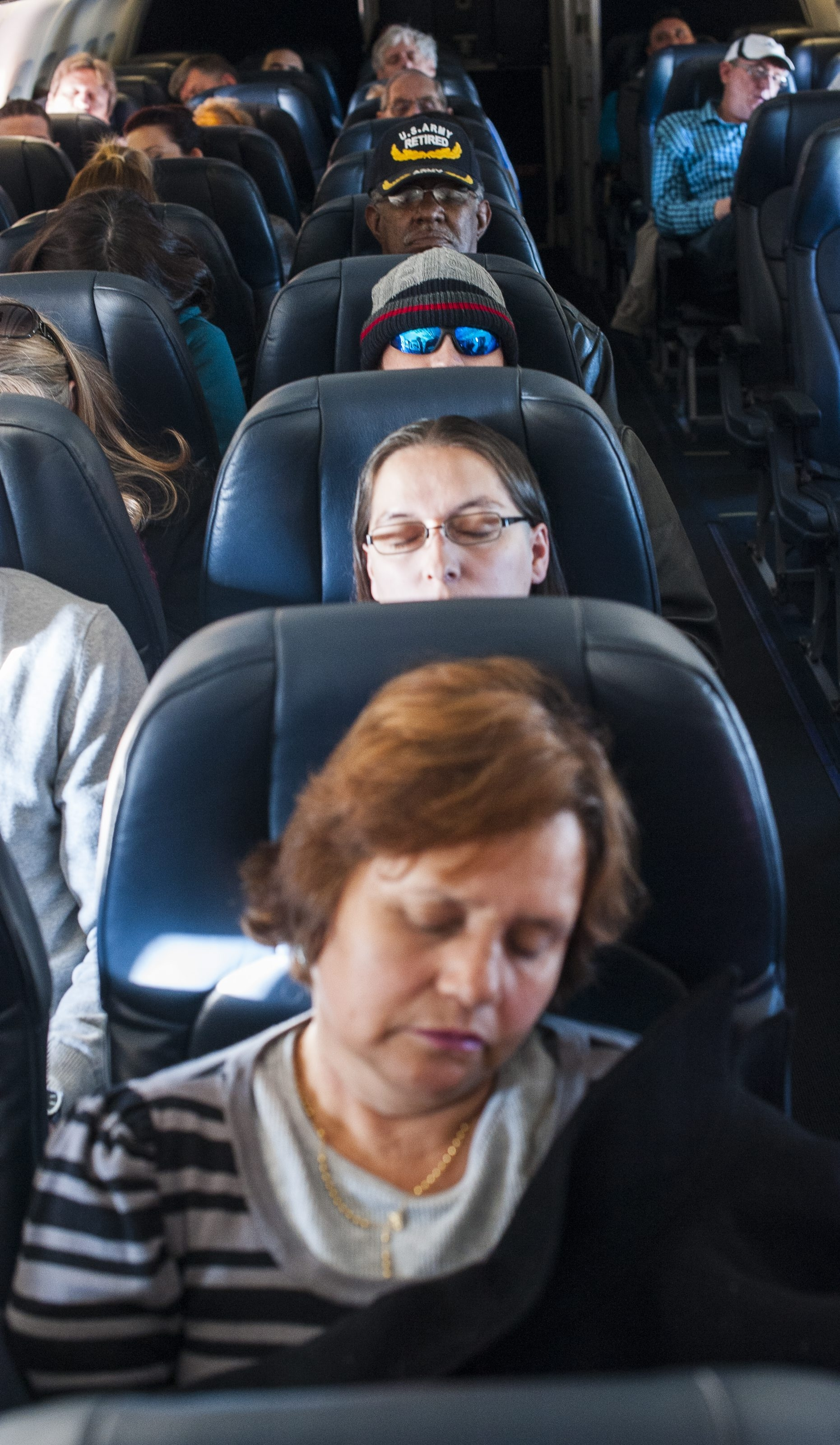 In the continuing push to add passengers, airlines are using seats that don't recline and that use less padding and lighter materials.