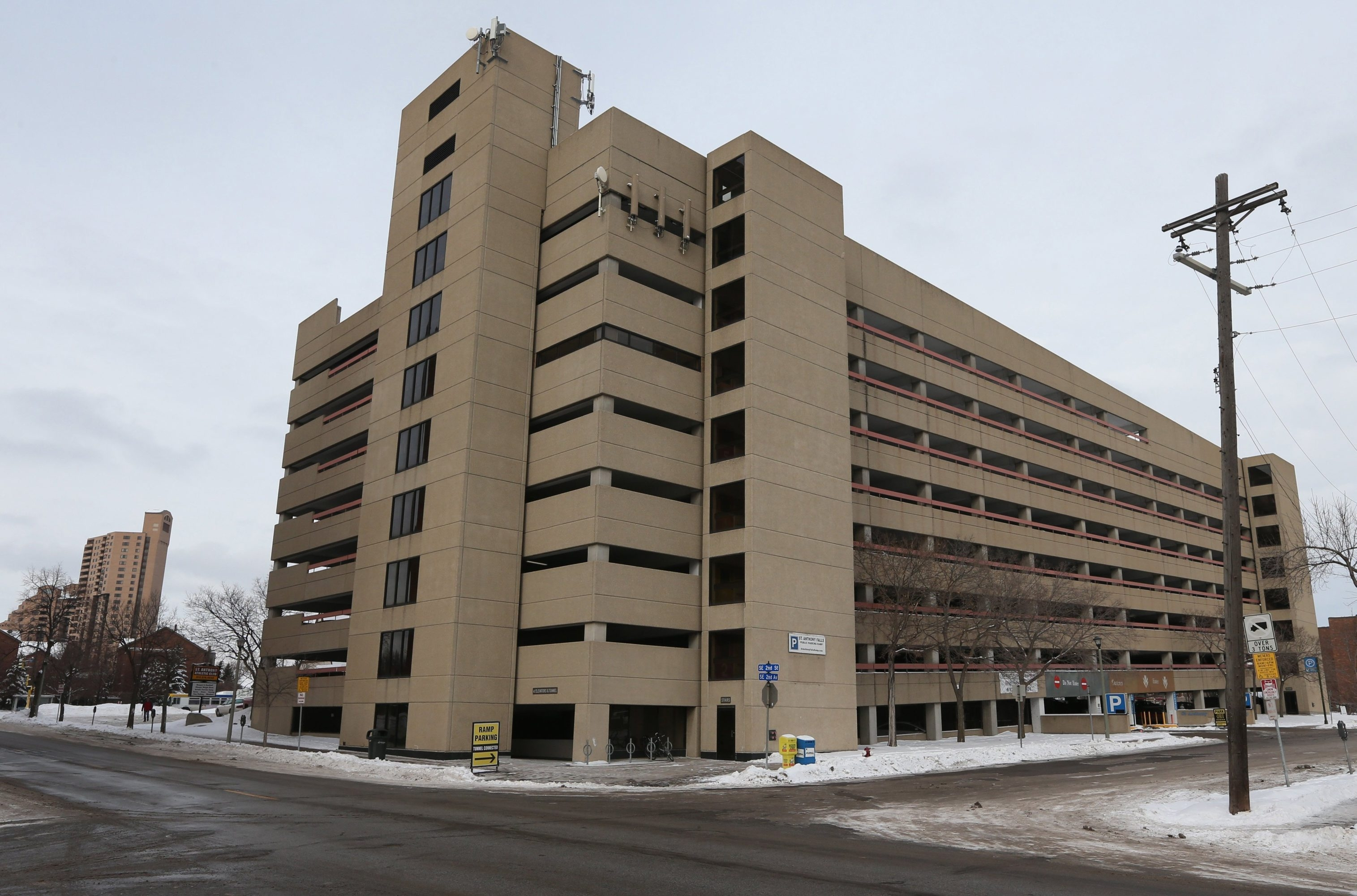The Cuningham Group, a Minneapolis architectural firm, has proposed adding 70 to 75 affordable apartments on the periphery of a monolithic '80s-era parking ramp in the popular St. Anthony Main area of Minneapolis.