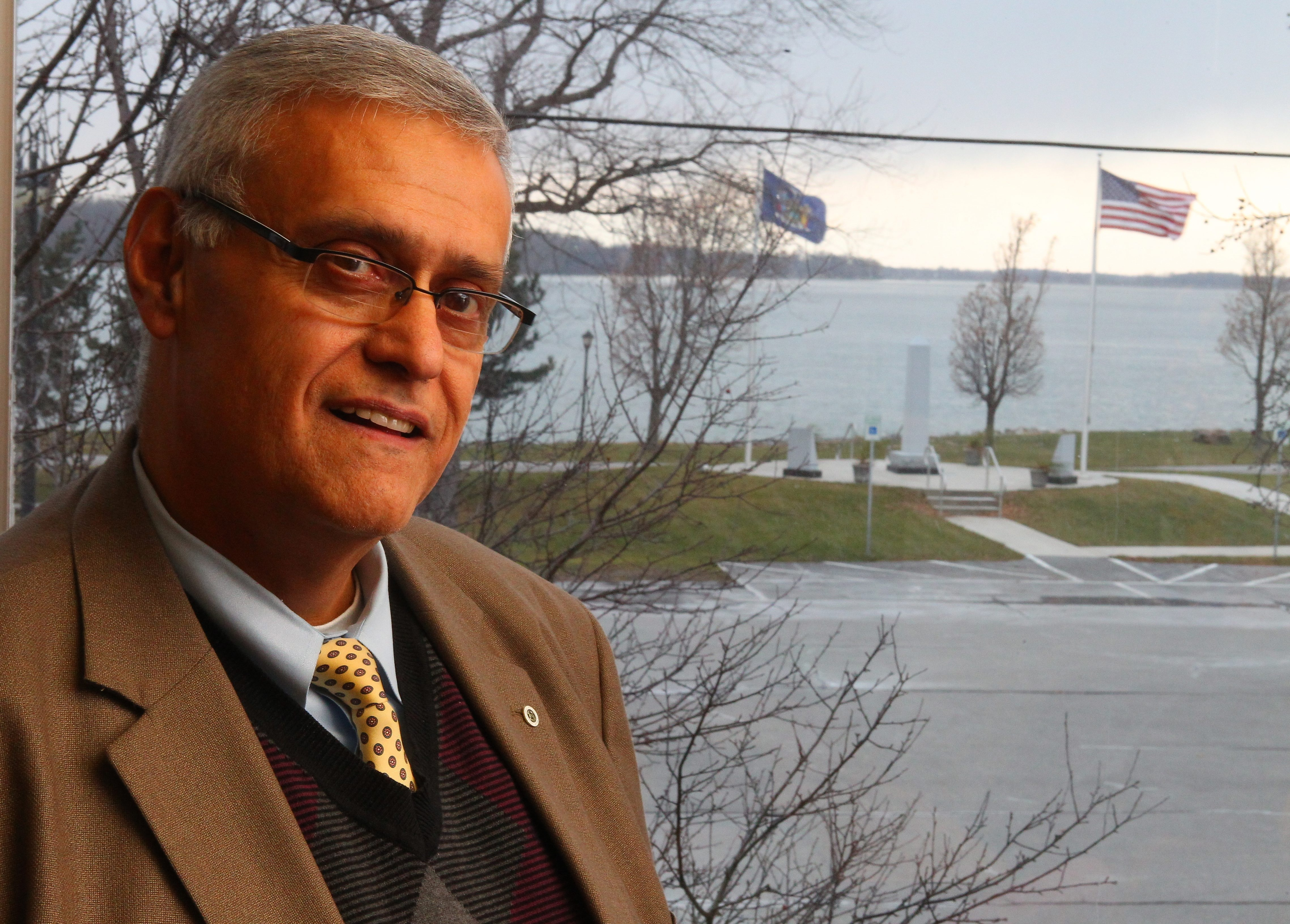 Outgoing City of Tonawanda Mayor Ron Pilozzi is proud of his accomplishments during two terms, including All-Heroes Memorial behind City Hall and the Niawanda Park Pavilion, built with Greenway funds.