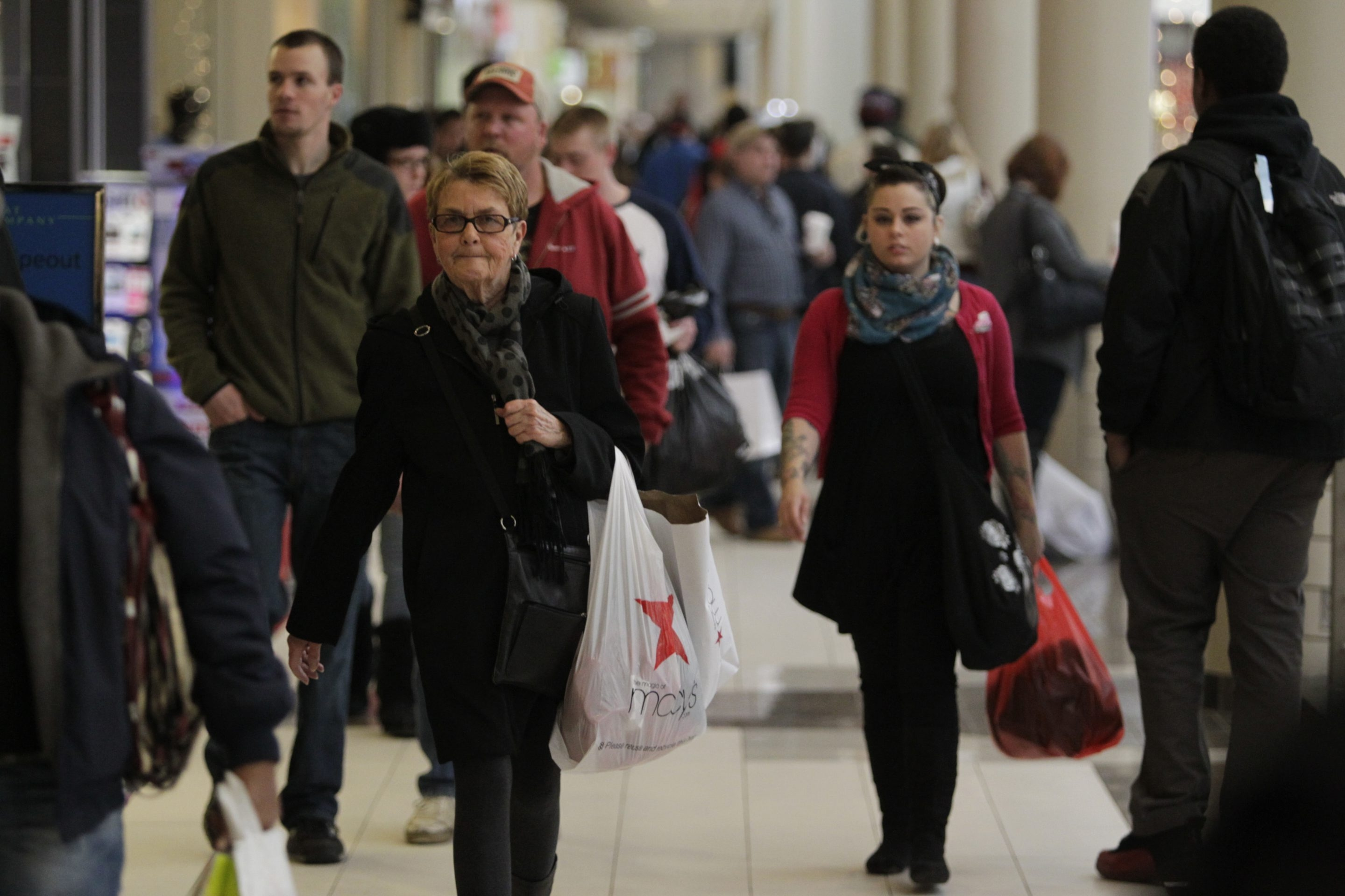 The Walden Galleria in Cheektowaga was packed with shoppers chasing the last of their holiday gifts on Saturday.