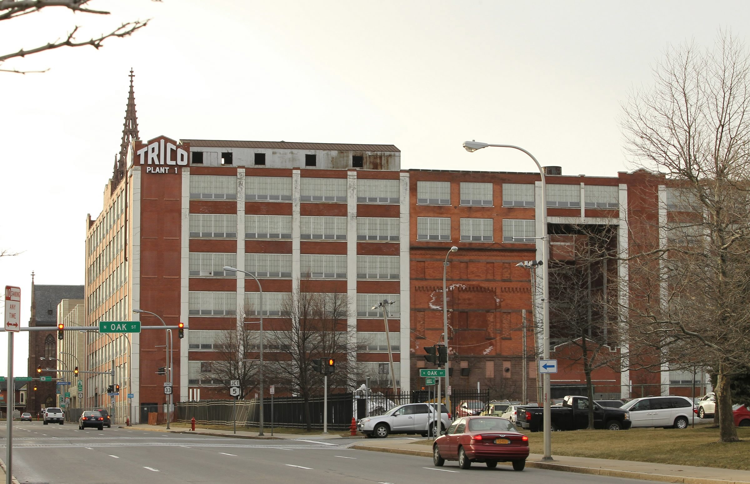 The long-vacant former Trico building at Ellicott and Goodell streets, on the Buffalo Niagara Medical Campus, will be developed by Krug Corp. of Orchard Park.