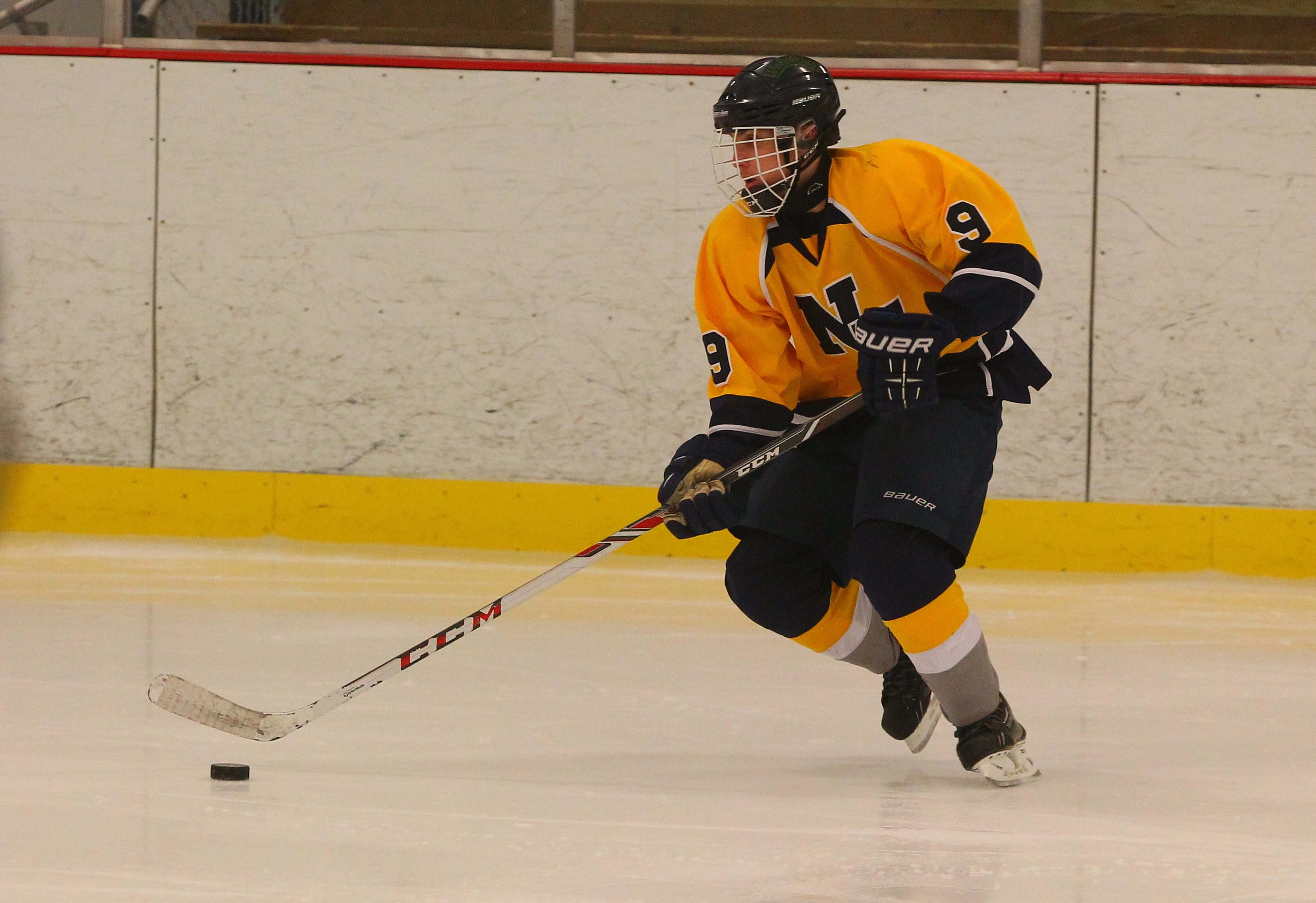 Niagara Falls hockey player Nicholas Lepine practices  for the first Cataract Hockey Classic at Hyde Park Ice Pavilion this weekend, which will see four area high schools and two from Rochester compete.