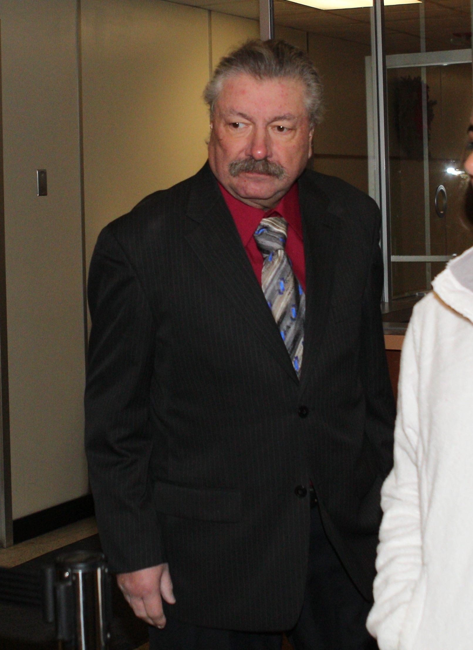 Robert Styn Jr. arrives at West Seneca Town Court where he was arraigned.