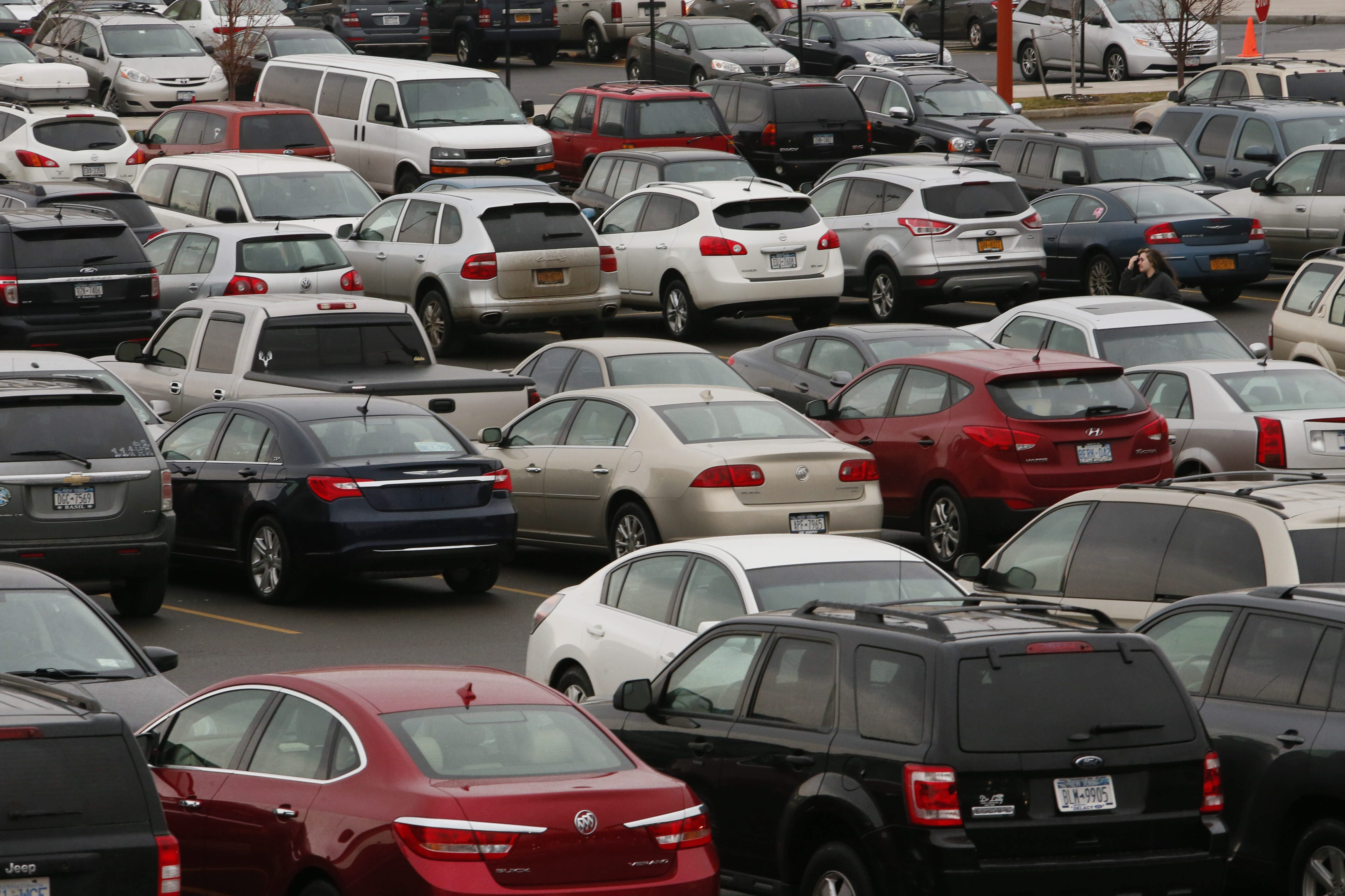 The Walden Galleria in Cheektowaga has more than 7,000 parking spaces in its lots.
