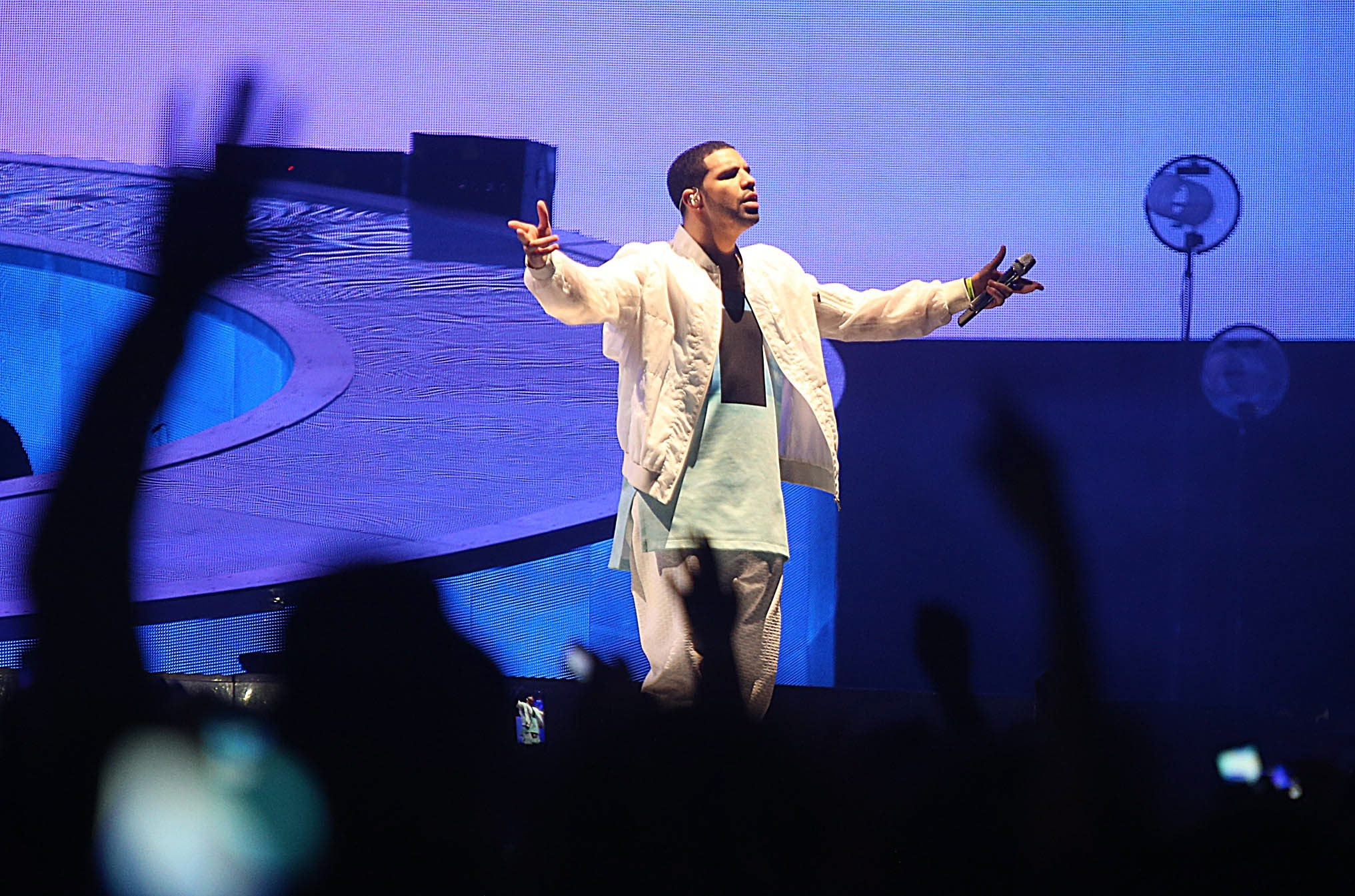 Hip-hop artist Drake performs to a predominantly female fan base Sunday in First Niagara Center.