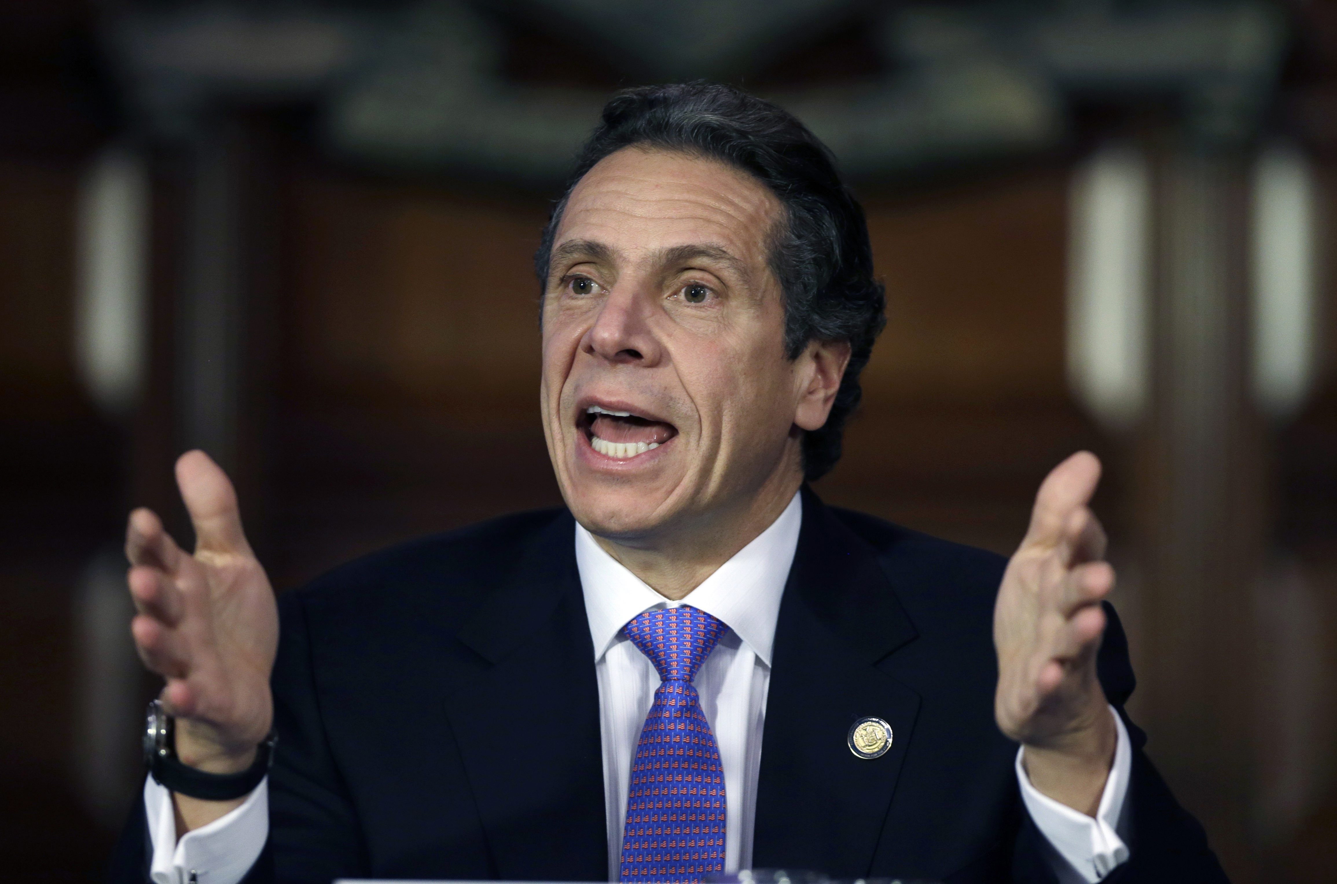 New York Gov. Andrew Cuomo has championed the cause of campaign finace reform but in the meantime is going all-out to raise money for his 2014 re-election effort.  Associated Press