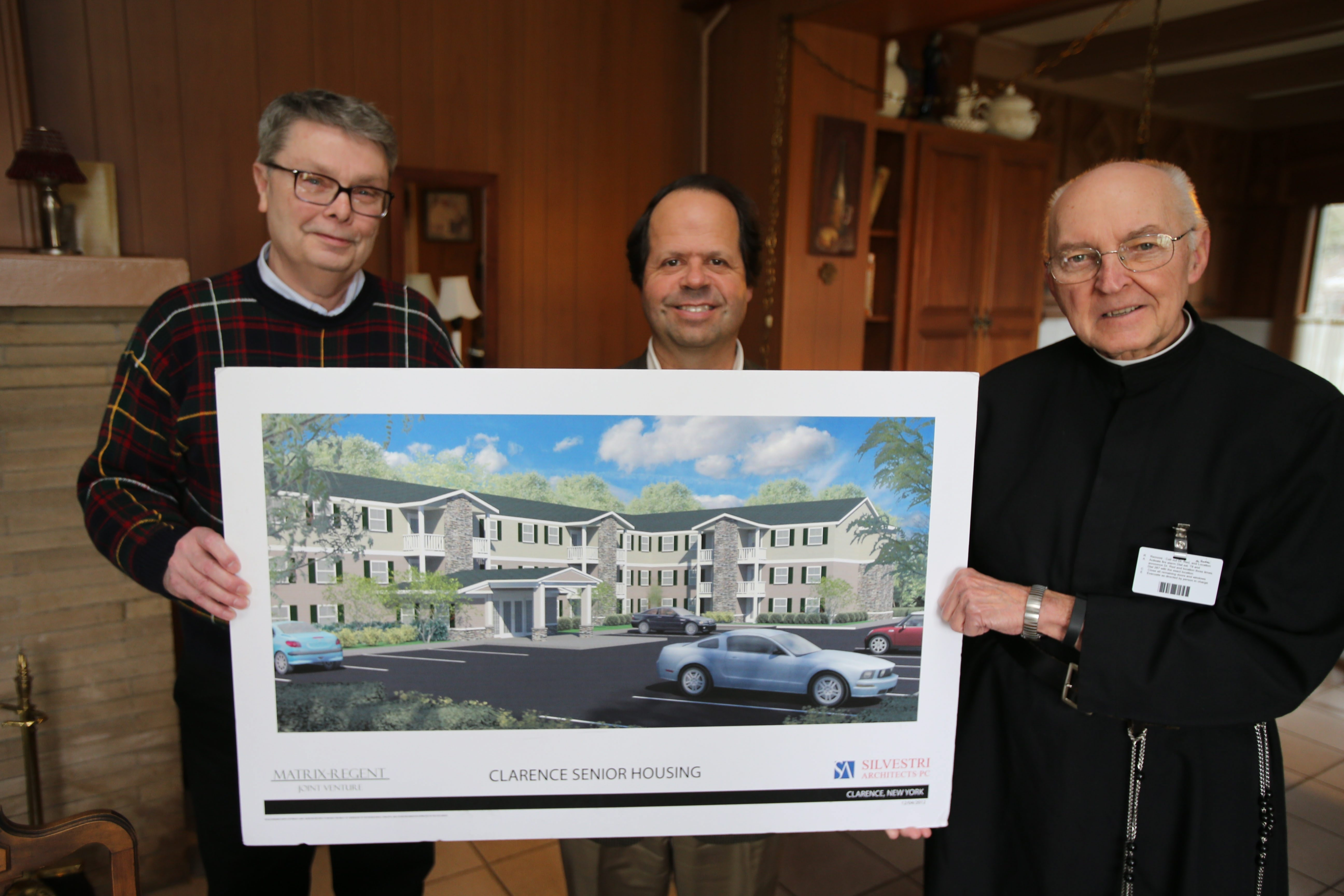 An artist's rendering shows the new facility planned by the Brothers of Mercy.