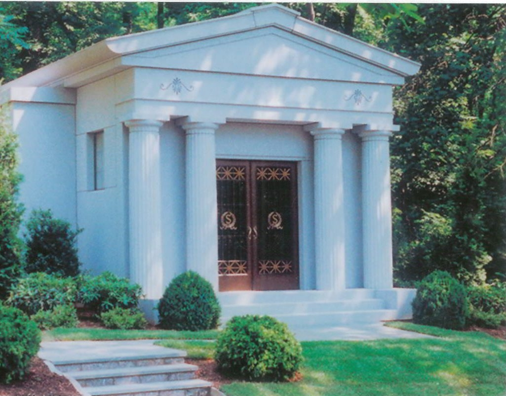Rendering of mausoleum that Russell Salvatore wants to build for himself in front of restaurant and hotel at 6675 Transit Road in Lancaster.