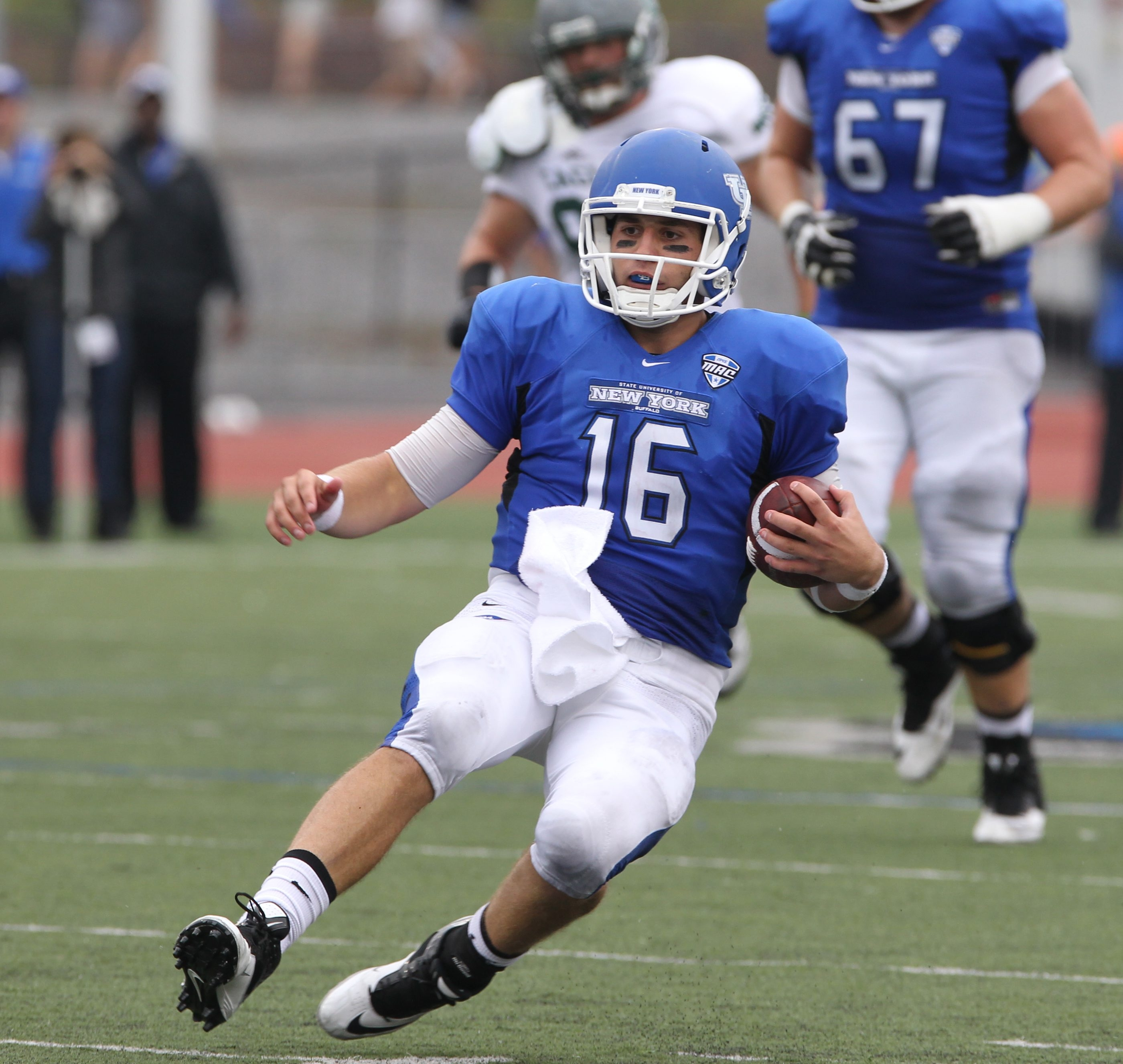 Joe Licata and the UB Bulls will take on San Diego State in the Idaho Famous Potato Bowl.