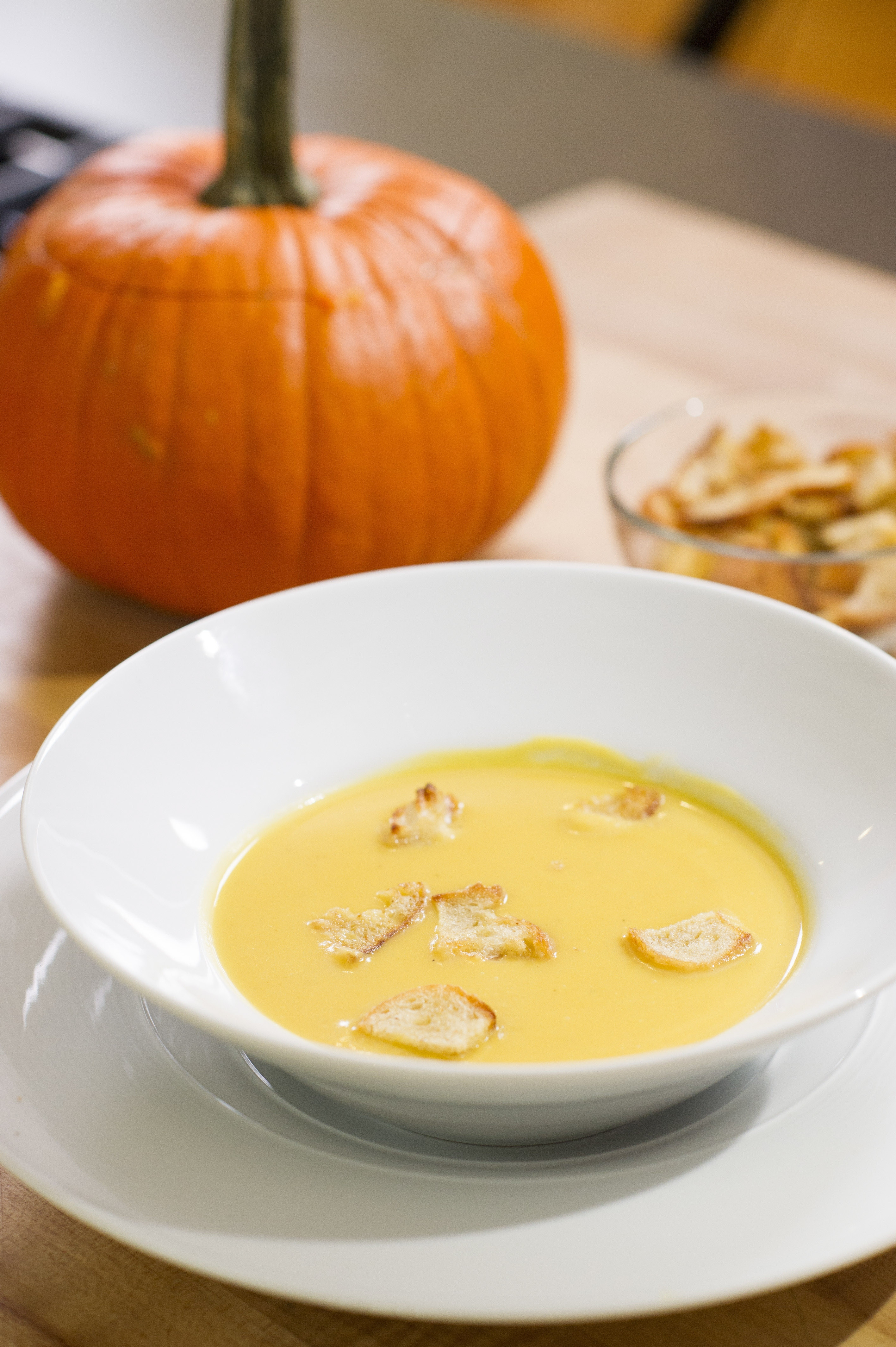 André Soltner, the chef and owner of Lutece in New York, said he serves his pumpkin soup in a pumpkin, just the way his mother would.