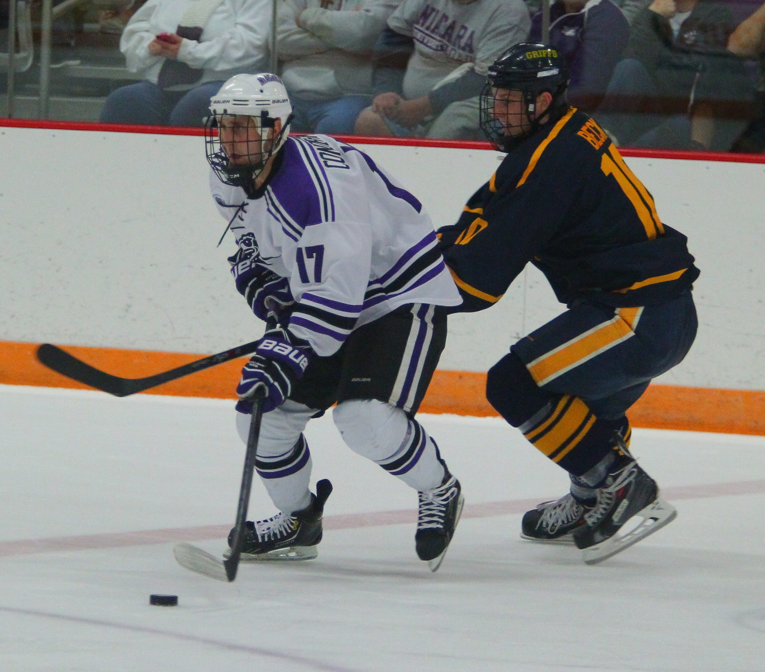 Niagara's Mike Conderman (17) will go back home to Rochester to play against RIT in an outdoor game at Frontier Field.