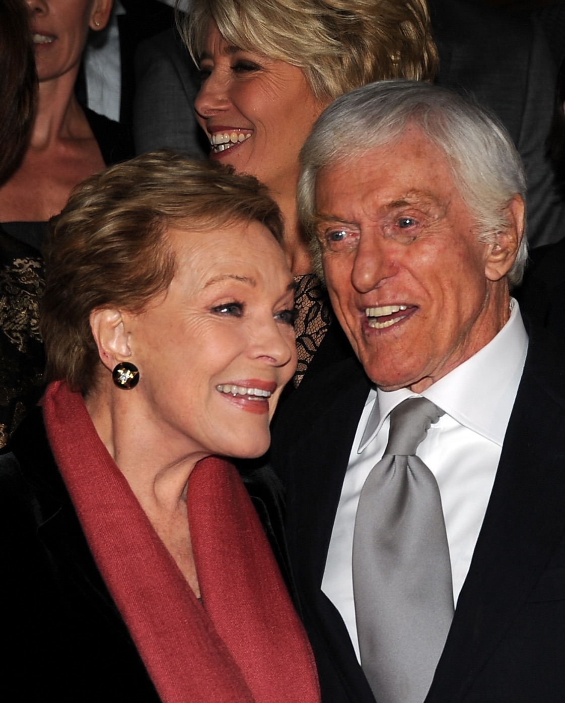 """Julie Andrews and Dick Van Dyke attend the U.S. premiere of Disney's """"Saving Mr. Banks,"""" the story of how """"Mary Poppins"""" made it to the screen, Monday in Burbank, Calif."""