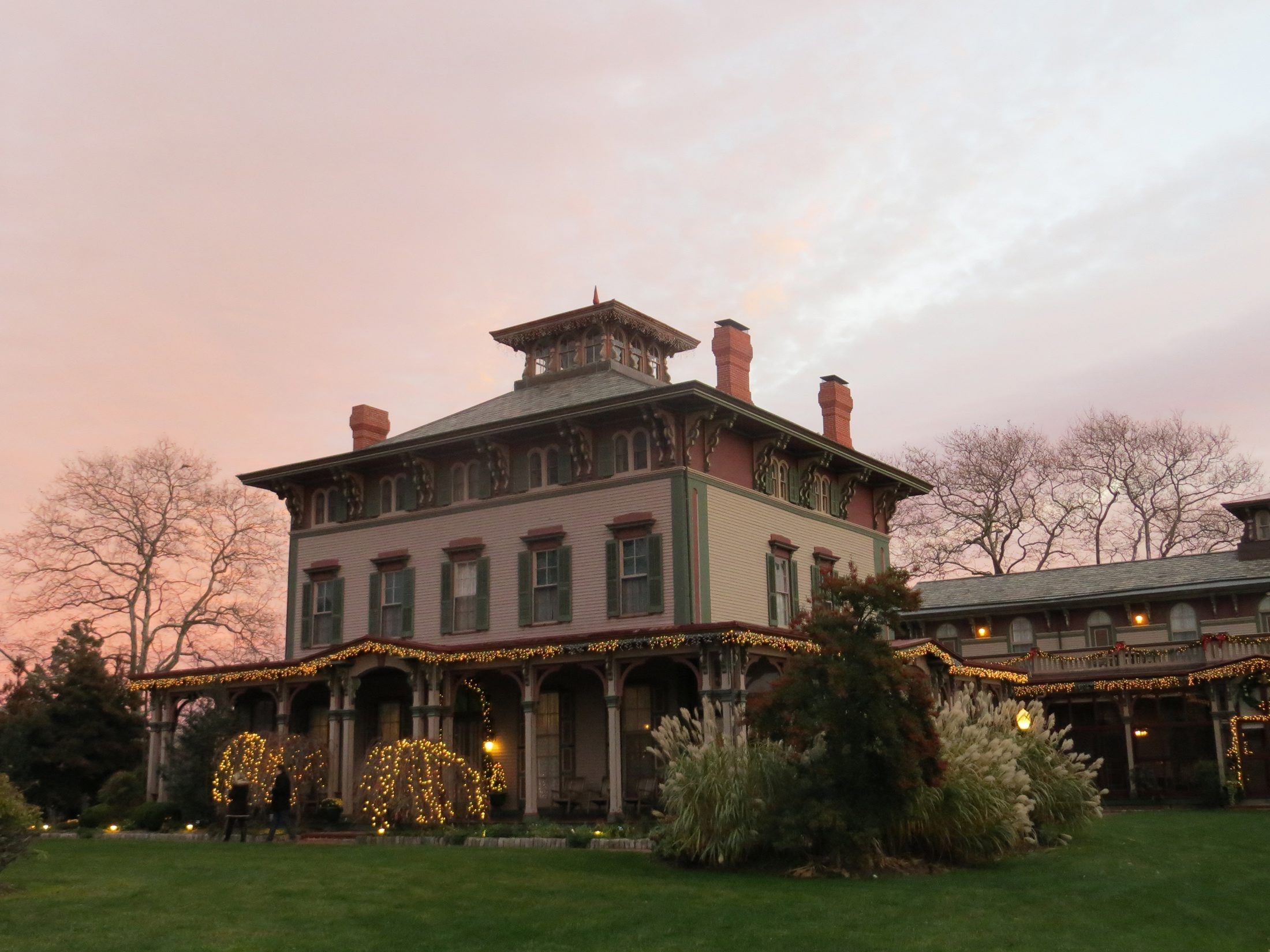 Cape May, N.J., is home to many Victorian bed-and-breakfasts, including the Southern Mansion that decorates with lights for the holiday season.