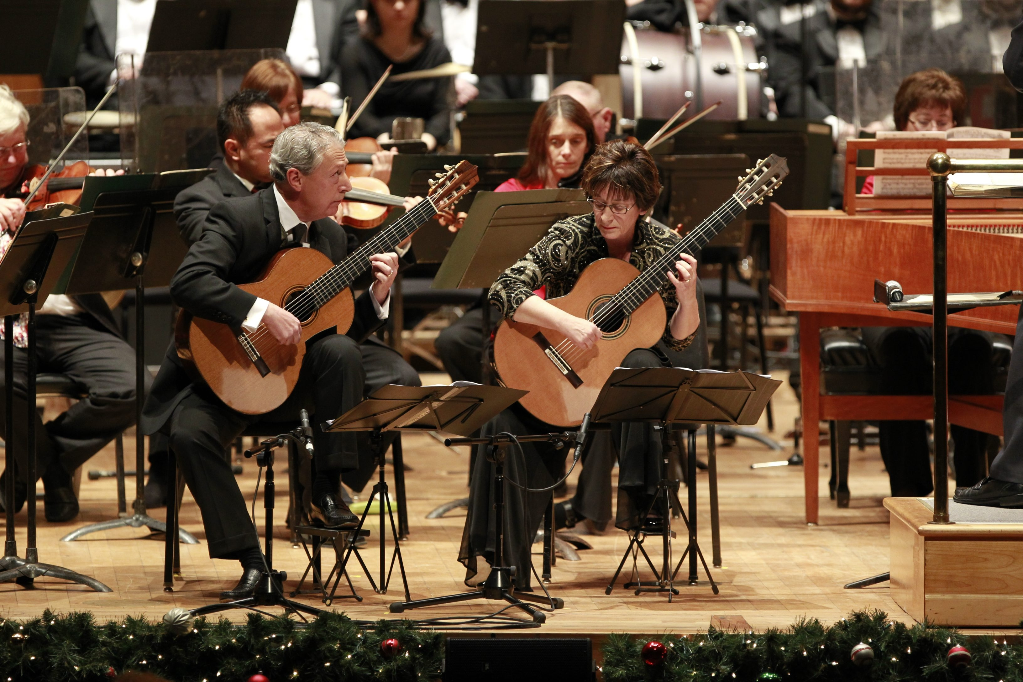 """The Castellani/Andriaccio Guitar Duo play a quiet concerto by Vivaldi at this weekend's BPO """"Classical Christmas."""""""