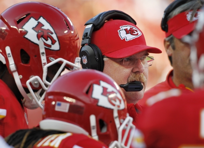 Kansas City Chiefs coach Andy Reid has his team heading in the right direction. (AP Photo/Colin E. Braley)