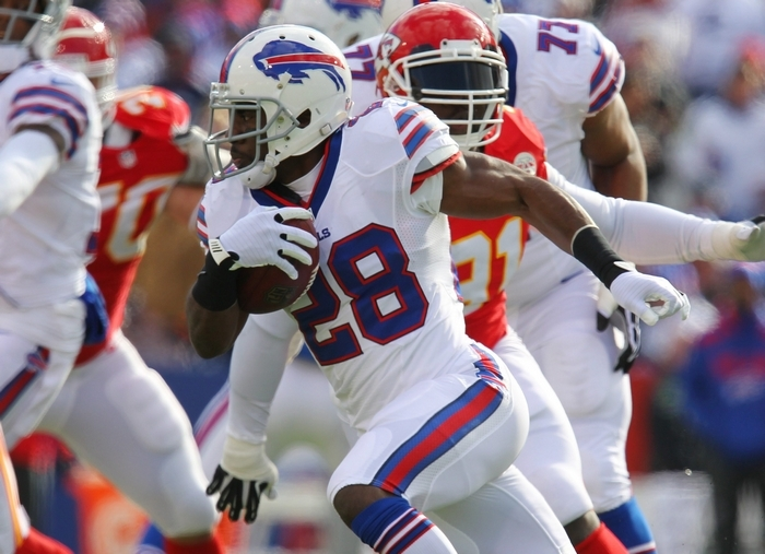 C.J. Spiller ran 12 times for 116 yards against the Chiefs. (Mark Mulville/Buffalo News)