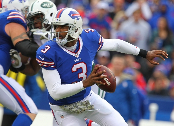 EJ Manuel bounced back from last week's dreadful performance in Pittsburgh with his most complete game of the season Sunday vs. Jets. (Mark Mulville/Buffalo News)