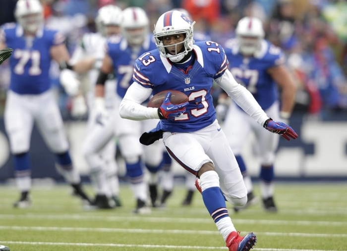 Uncertainty at QB along with injuries have limited Stevie Johnson's production. (Harry Scull Jr./Buffalo News)