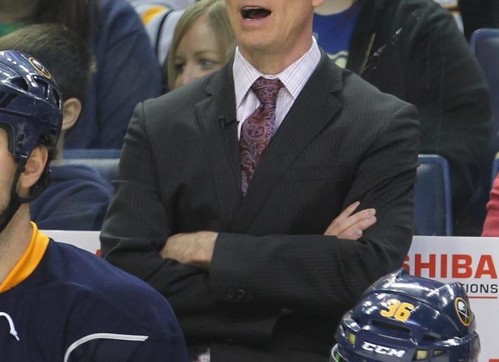 Sabres coach Ron Rolston seems to be over his head as an NHL head coach. (Mark Mulville/Buffalo News)